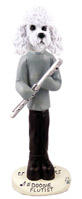 Poodle White w/Sport Cut Flutist Doogie Collectable Figurine