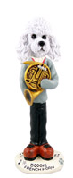 Poodle White w/Sport Cut French Horn Doogie Collectable Figurine
