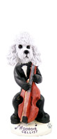Poodle White w/Sport Cut Cellist Doogie Collectable Figurine