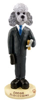Poodle Gray w/Sport Cut Businessman Doogie Collectable Figurine