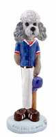 Poodle Gray w/Sport Cut Baseball Doogie Collectable Figurine