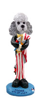 Poodle Gray w/Sport Cut 4th of July Doogie Collectable Figurine
