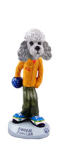 Poodle Gray w/Sport Cut Bowler Doogie Collectable Figurine