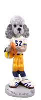 Poodle Gray w/Sport Cut Football Player Doogie Collectable Figurine