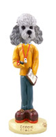 Poodle Gray w/Sport Cut Coach Doogie Collectable Figurine