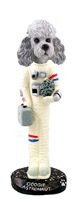 Poodle Gray w/Sport Cut Astronaut Doogie Collectable Figurine