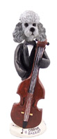 Poodle Gray w/Sport Cut Bassist Doogie Collectable Figurine