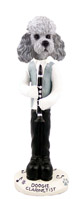 Poodle Gray w/Sport Cut Clarinetist Doogie Collectable Figurine