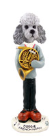 Poodle Gray w/Sport Cut French Horn Doogie Collectable Figurine