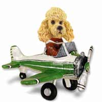 Poodle Apricot Airplane Doogie Collectable Figurine