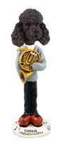 Poodle Black w/Sport Cut French Horn Doogie Collectable Figurine