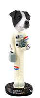Jack Russell Terrier Black & White w/Smooth Coat Astronaut Doogie Collectable Figurine