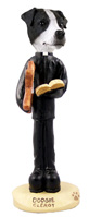 Jack Russell Terrier Black & White w/Smooth Coat Clergy Doogie Collectable Figurine