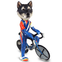 Alaskan Malamute Bicycle Doogie Collectable Figurine