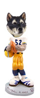 Alaskan Malamute Football Player Doogie Collectable Figurine