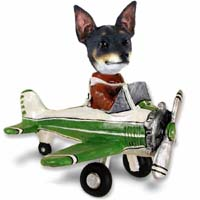 Rat Terrier Airplane Doogie Collectable Figurine