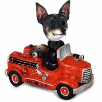 Rat Terrier Fire Engine Doogie Collectable Figurine