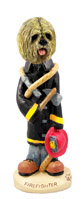 Lhasa Apso Blonde Fireman Doogie Collectable Figurine