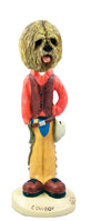Lhasa Apso Blonde Cowboy Doogie Collectable Figurine