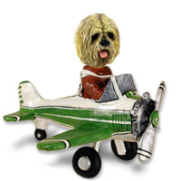 Lhasa Apso Blonde Airplane Doogie Collectable Figurine
