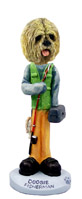 Lhasa Apso Blonde Fisherman Doogie Collectable Figurine