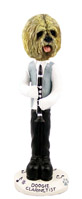 Lhasa Apso Blonde Clarinetist Doogie Collectable Figurine
