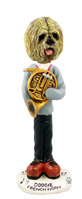 Lhasa Apso Blonde French Horn Doogie Collectable Figurine