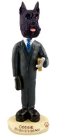 Schnauzer Black Businessman Doogie Collectable Figurine