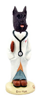 Schnauzer Black Doctor Doogie Collectable Figurine