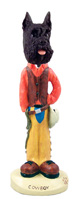 Schnauzer Black Cowboy Doogie Collectable Figurine