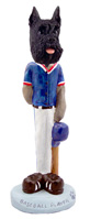 Schnauzer Black Baseball Doogie Collectable Figurine