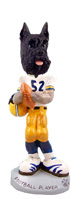 Schnauzer Black Football Player Doogie Collectable Figurine