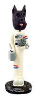 Schnauzer Black Astronaut Doogie Collectable Figurine