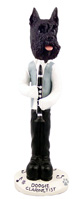 Schnauzer Black Clarinetist Doogie Collectable Figurine