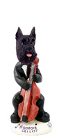 Schnauzer Black Cellist Doogie Collectable Figurine