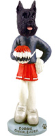 Schnauzer Black Cheerleader Doogie Collectable Figurine