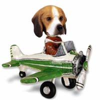 Beagle Airplane Doogie Collectable Figurine