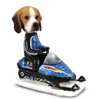 Beagle Snowmobile Doogie Collectable Figurine