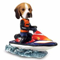 Beagle Jet Ski Doogie Collectable Figurine