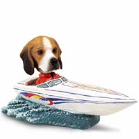 Beagle Motorboat Doogie Collectable Figurine