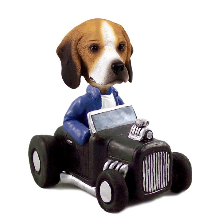 Beagle Hot Rod Doogie Collectable Figurine
