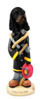 Cocker Spaniel Black & Tan Fireman Doogie Collectable Figurine