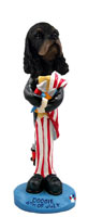 Cocker Spaniel Black & Tan 4th of July Doogie Collectable Figurine