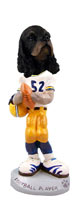 Cocker Spaniel Black & Tan Football Player Doogie Collectable Figurine