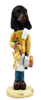 Cocker Spaniel Black & Tan Chef Doogie Collectable Figurine