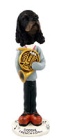 Cocker Spaniel Black & Tan French Horn Doogie Collectable Figurine
