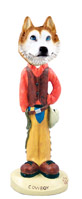 Husky Red & White w/Blue Eyes Cowboy Doogie Collectable Figurine