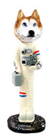 Husky Red & White w/Blue Eyes Astronaut Doogie Collectable Figurine