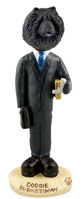 Chow Black Businessman Doogie Collectable Figurine
