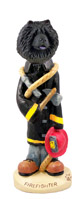 Chow Black Fireman Doogie Collectable Figurine
